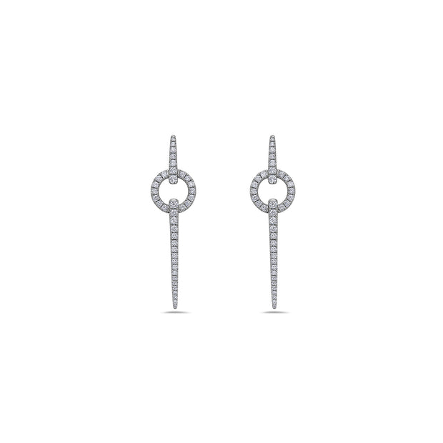 Diamond Circular Spear Earring