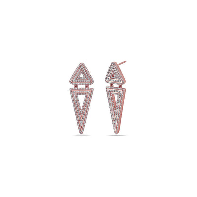 Diamond Double Triangle Earring