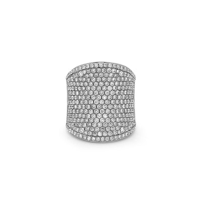 Diamond Ultra Wide Pave Band Ring
