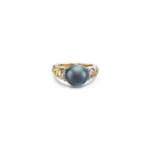 Diamond Ivy Pearl Ring