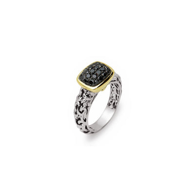 Silver Ivy Petite Pave Ring