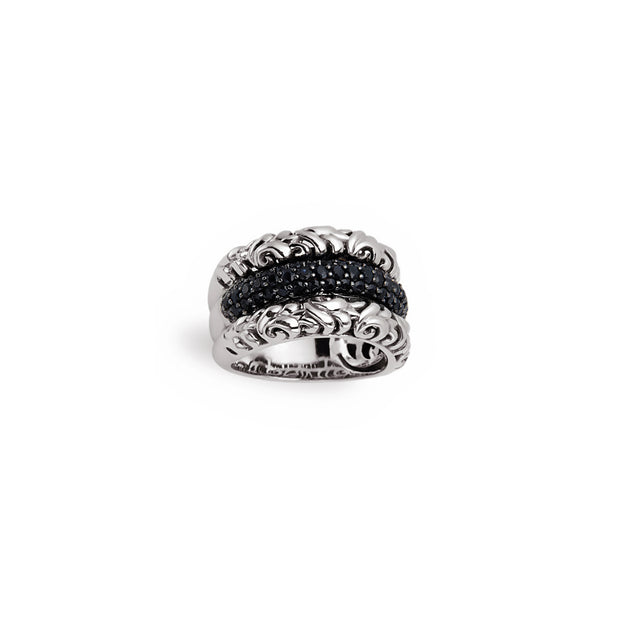 Silver Ivy Divide Band Ring