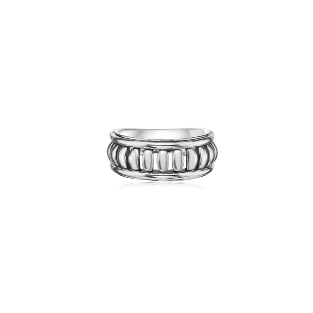 Silver Birdcage Band Ring