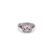 Pastel Diamond Petit Cushion Ring
