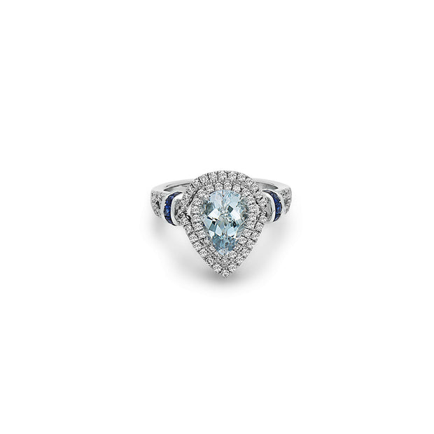 Pastel Diamond Pear Shaped Ring