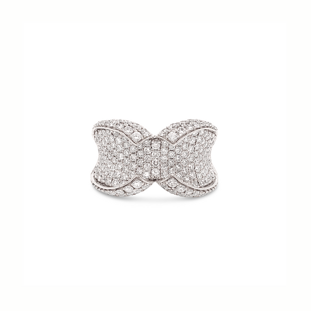 Platinum Diamond Collar Ring