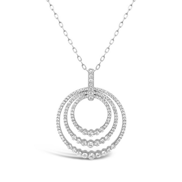 DIAMOND SUNSET LARGE CIRCLE PENDANT