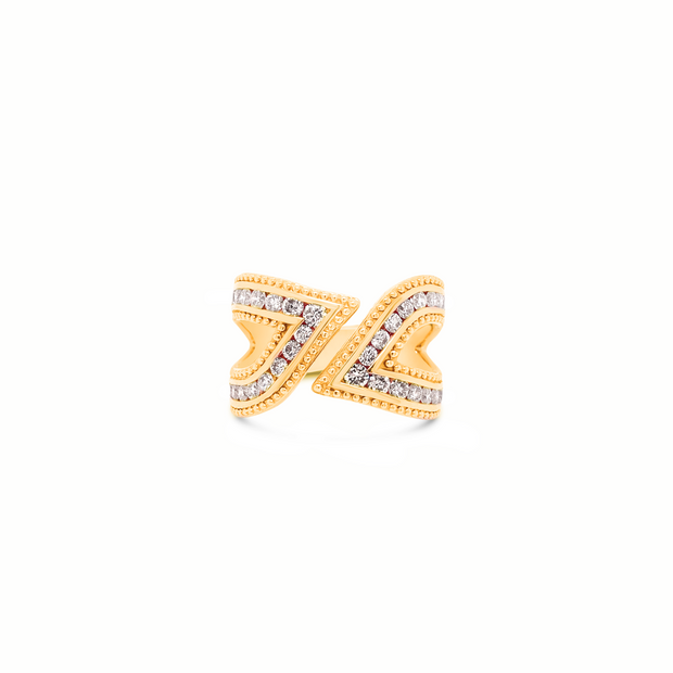 Diamond Leif Ring