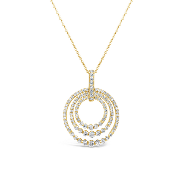 Diamond Sunset Circle Pendant