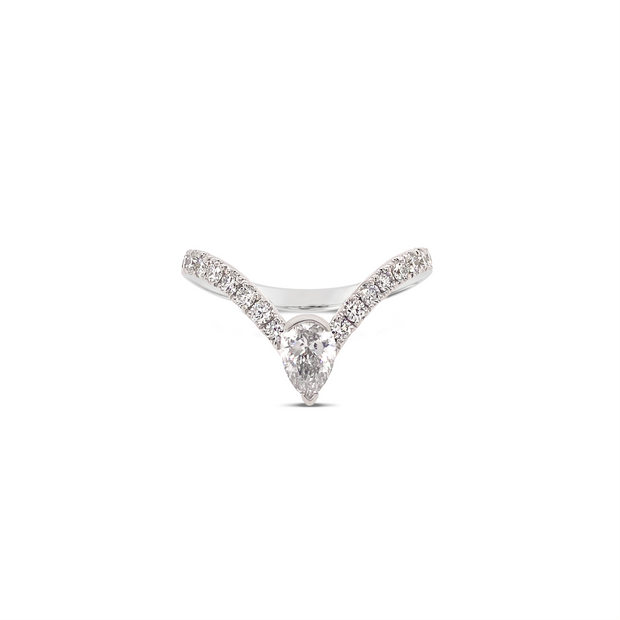 Diamond V Stone Stacking Ring