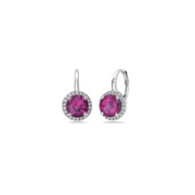 Pastel Diamond Petite Station Drop Earring