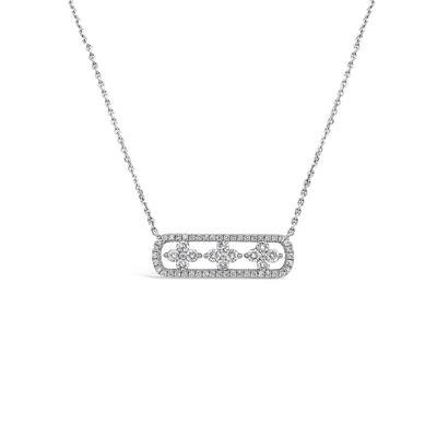 Diamond Air Flower Bar Pendant
