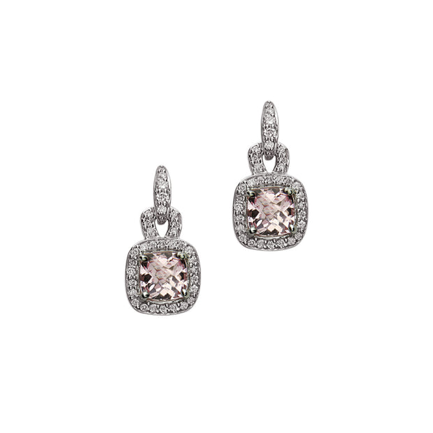 Pastel Diamond Drop Anchor Earring