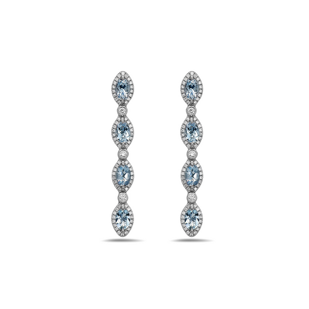 Pastel Diamond Firefly Drop Earring