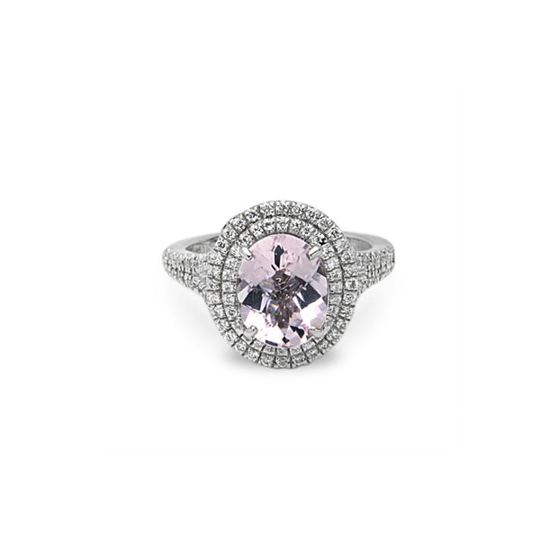 Pastel Diamond Oval Ring