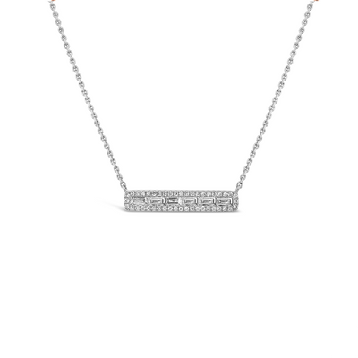 Diamond Baguette Bar Pendant
