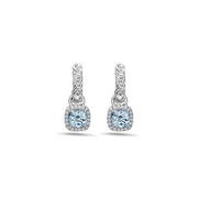 Pastel Diamond Ivy Cushion Drop Earring