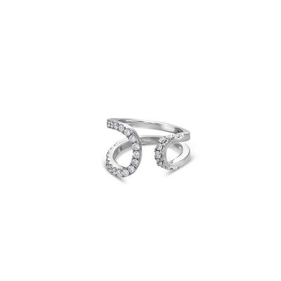 Diamond Open Swirl Ring