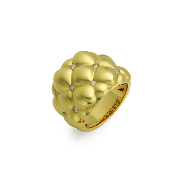 Diamond Tufted Gold Ring