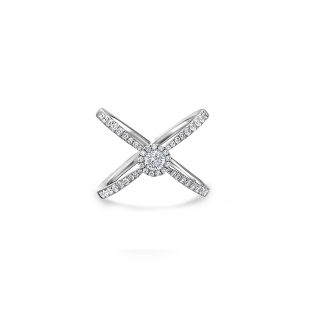 Diamond X Center Ring