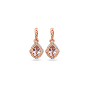 Pastel Diamond Classic Pear Shape Drop Earring