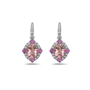Pastel Diamond Drop Opulent Oval Earring