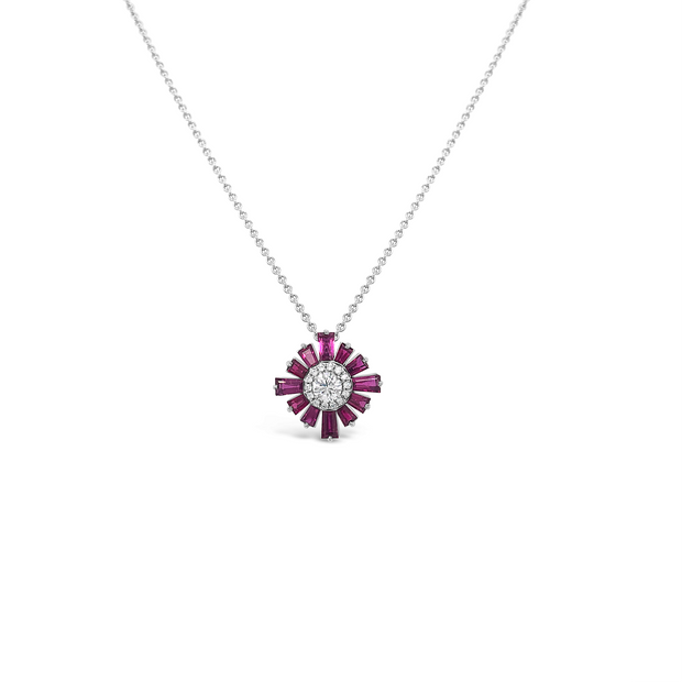 Diamond Floral Heirloom Pendant