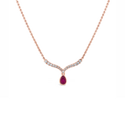 Diamond Delicate Drop Necklace