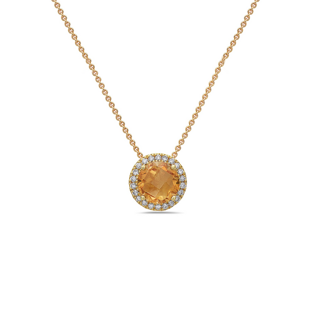 Pastel Diamond Station Necklace