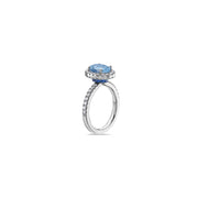 Pastel Diamond Petit Oval Ring