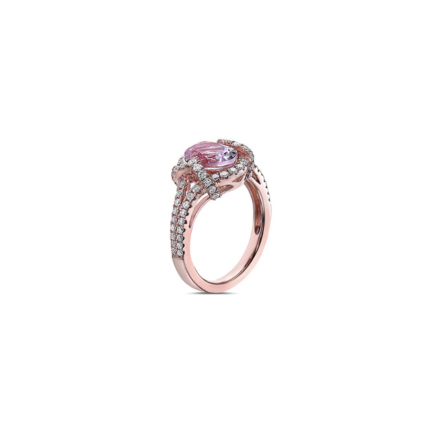 Pastel Diamond Oval Quatrefoil Ring