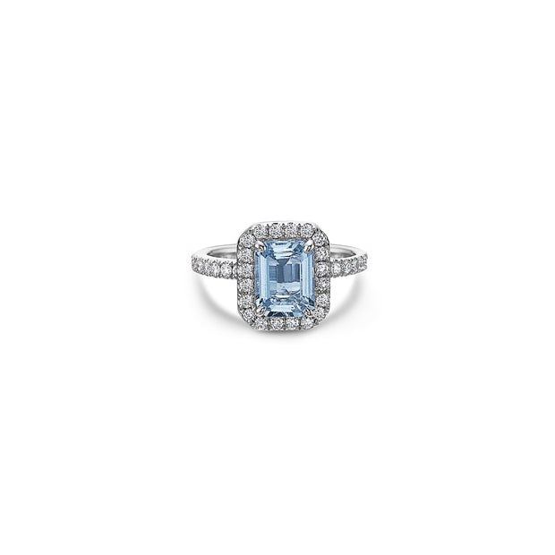 Pastel Diamond Petit Emerald Cut Ring
