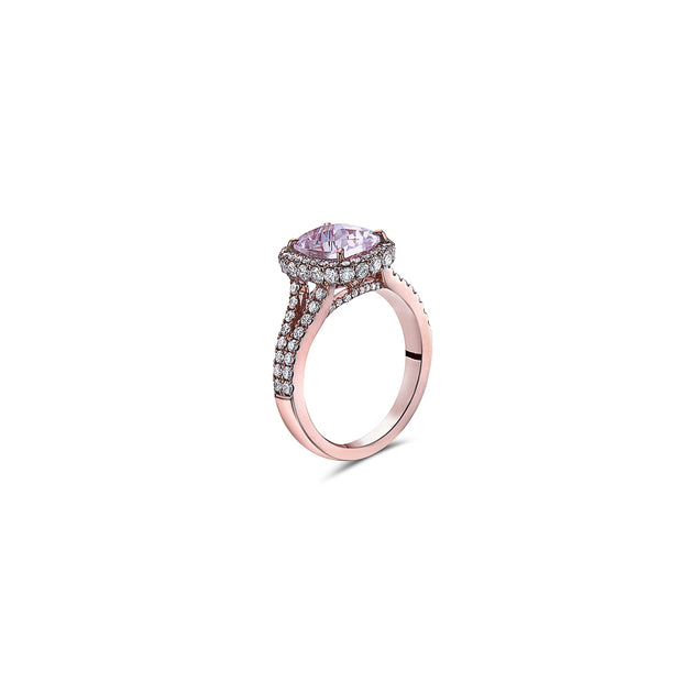 Pastel Diamond Cushion Ring