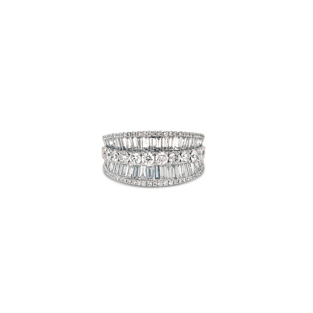 Krypell Collection Baguette Saddle Ring