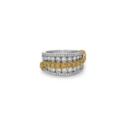 Krypell Collection Diamond Swirl Ring