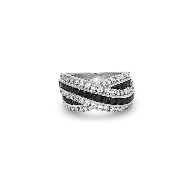 Krypell Collection Platinum and Diamond Overlap Ring