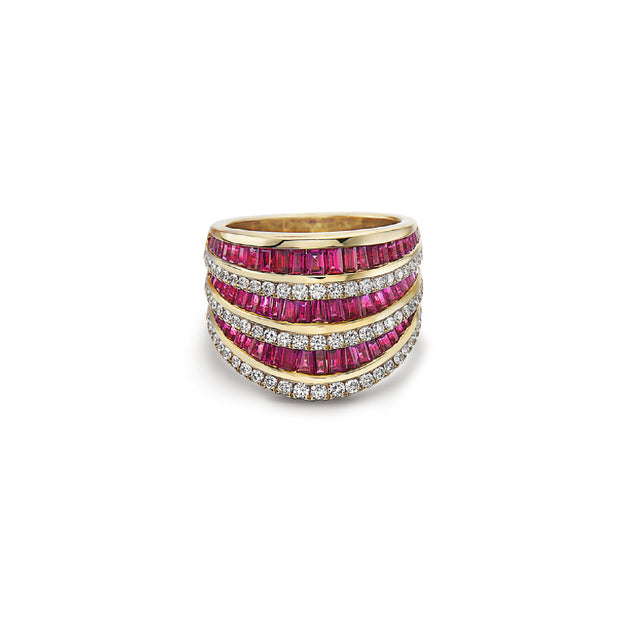 Krypell Collection Large Baguette Opera House Ring