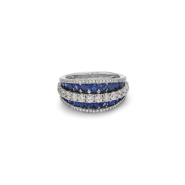 Krypell Collection Diamond Saddle Ring