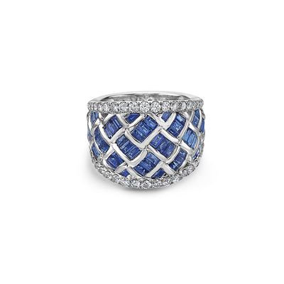 Krypell Collection Diamond Basket Weave Ring