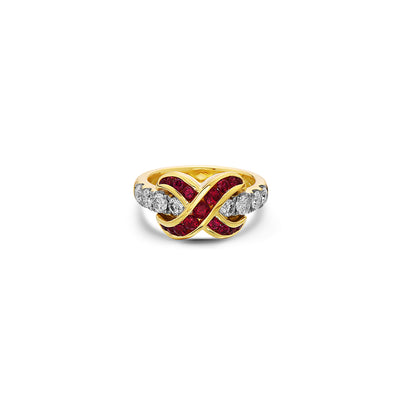 Krypell Collection Diamond Crossover Ring