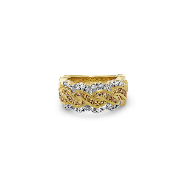 Krypell Collection Diamond Braid Ring