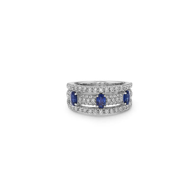 Diamond Tri-Layer Ring