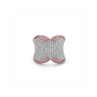 Diamond Wide-Band Collar Ring