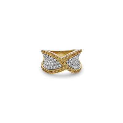 Precious Diamond Twisted Ring