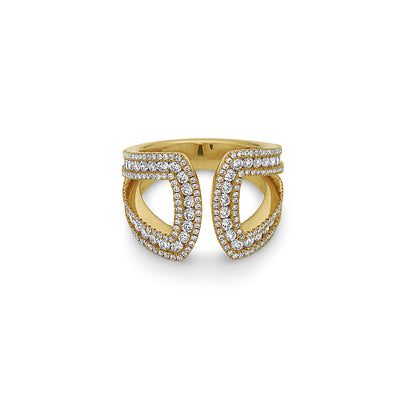 Gold Collection Diamond U Ring