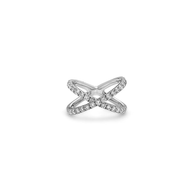 Diamond Delicate X Ring