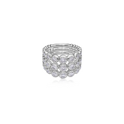 Diamond Bubble Triple Ring
