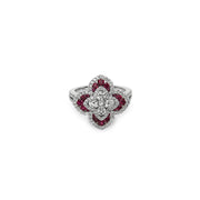 Quatrefoil Diamond Ring