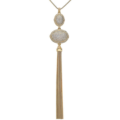 Diamond Tassel Necklace
