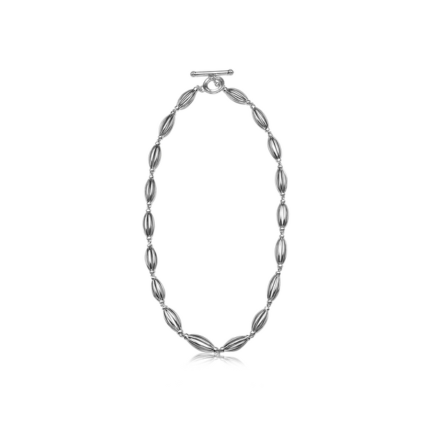 Silver Birdcage Link Necklace